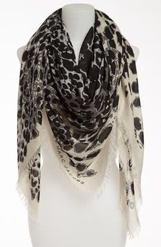 MARC BY MARC JACOBS Animal Print Square Scarf on shopstyle.com