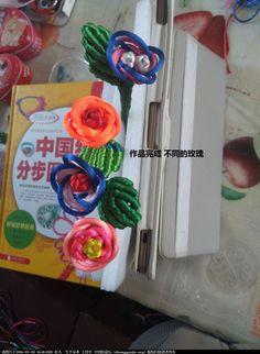 中国结 玫瑰花 喜欢的 就请停留 编些简单的 让初学者过过瘾 呵呵 立体绳结教程与交流区  玫瑰花,初学者 143712bvfks45tmmze49ab 12