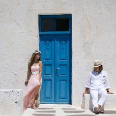 The Pink Dress! Cheesie and her Dana in Imerovigli! By @Sunrise Greece