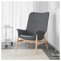 Fåtöljen återigen med hög lampa. /// VEDBO πολυθρόνα με ψηλή πλάτη - IKEA