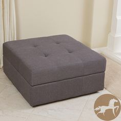 Christopher Knight Home Chatsworth Brown-Grey Fabric Storage Ottoman @Heather Caywood  check this one out $132.99