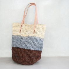 Beach BagStraw ToteStraw Bag Raffia Bag by MOOSSHOP on Etsy, $39.95