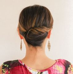 Tight Back Twist Updo For Medium Length Hair | For more style inspiration visit 40plusstyle.com