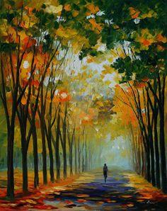 Autumn Mood by Leonid Afremov by Leonidafremov.deviantart.com on @DeviantArt