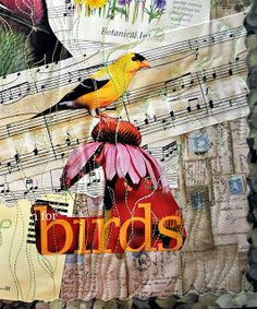 Mixed Media Bird Quilt...