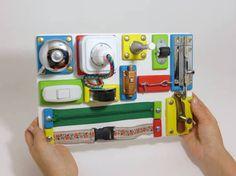 Resultado de imagen para board toddler montessori diy busy
