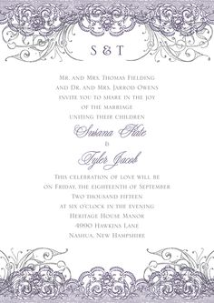 Lace Themed Wedding Invitation #vintagewedding