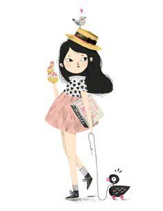 """lucillemichieli: """"Illustration pour le webzine Lucky Mum www.luckymum.fr """""""