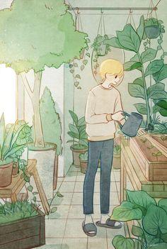 Aesthetic Drawing, Aesthetic Art, Aesthetic Anime, Character Art, Character Design, Korean Art, Anime Scenery, Cute Illustration, Cute Drawings