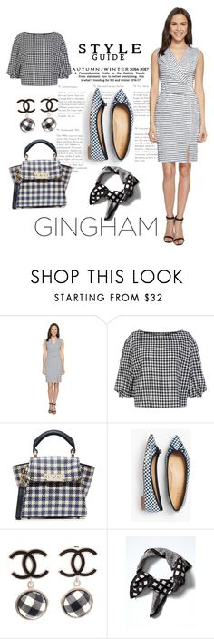 """Gingham style"" by liahayes ❤ liked on Polyvore featuring Adrianna Papell, Sonia Rykiel, ZAC Zac Posen, Talbots, Chanel and Banana Republic"