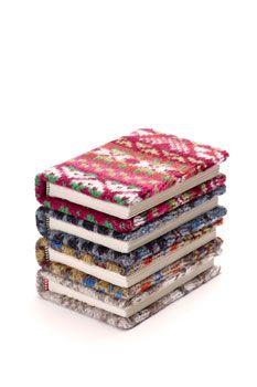 Fairisle knit notebooks by Mary Fraser