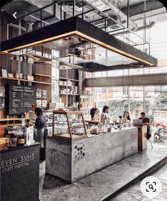 Coffee Bar Design, Coffee Shop Interior Design, Coffee Shop Bar, Restaurant Interior Design, Coffee Store, Coffee Cafe, Cafe Shop Design, Container Bar, Architecture Restaurant