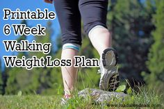 Free Printable 6 Week Walking Weight Loss Plan http://madamedeals.com/walking-weight-loss-printable/ #weightloss #inspireothers #exercise