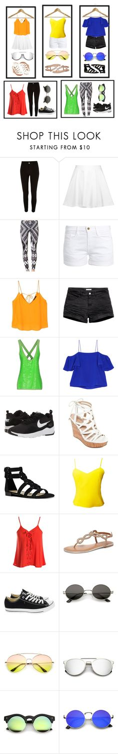 """Choose"" by chooseyou ❤ liked on Polyvore featuring River Island, Alice + Olivia, Frame, MANGO, H&M, Fendi, NIKE, GUESS, Nine West and Versus"