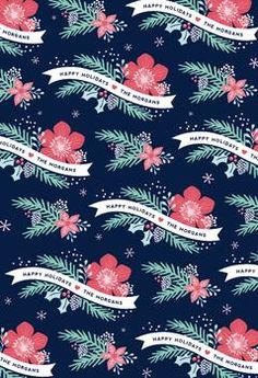 Festive Floral by Hooray Creative for Minted.