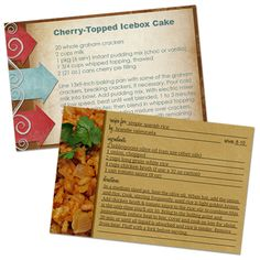 How to make recipe cards in PhotoShop!  Great tutorial!