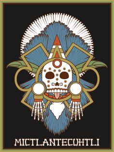 Mictlantecuhtli by Jonathan Schobert #skull #calaveras #aztec #god