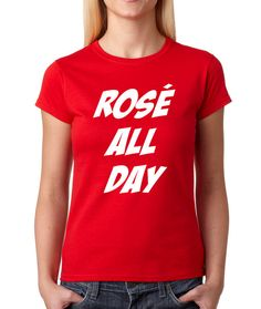 Women's Rose All Day Shirt Printed Sunday Funday from $10.99 at xpressiontees.etsy.com | #ExpressionTees
