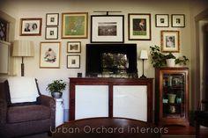 Tv wall gallery   Urban Orchard Interiors