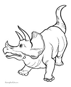 Dinosaur - triceratops coloring page 012