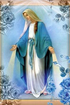 Because virgin mary is the mother of jesus, and had the son of god, she is deemed very powerful. A famous religious figure many worship.