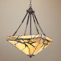 "Tiffany Style Budding Branch 27"" High Glass Pendant Light - LampsPlus.com"