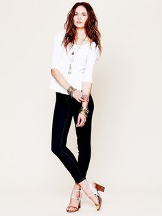 Blank High Rise Rinse Skinny at Free People Clothing Boutique
