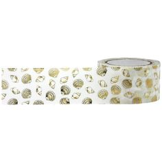 Gold Foil Seashell - Washi Tape (101065) by MemoryMakinShoppe on Etsy