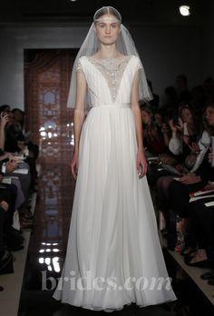 Brides: Reem Acra - Fall 2013 | Bridal Runway Shows | Wedding Dresses and Style | Brides.com