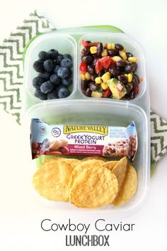 50 healthy work lunch ideas - FamilyFreshMeals.com cowboy caviar lunchbox - familyfreshmeals.com