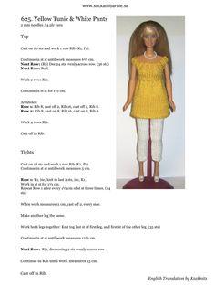 Barbie Knitting Patterns, Knitting Dolls Clothes, Barbie Clothes Patterns, Crochet Barbie Clothes, Doll Patterns, Clothing Patterns, Fashion Dolls, Fashion Outfits, Barbie Wardrobe