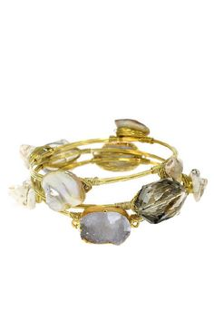 Lucky Duck Wired and Buzzed Bracelet Set in Ivory