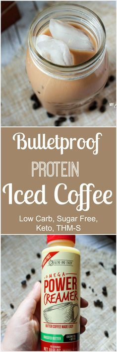 Bulletproof Protein Iced Coffee (Low Carb, Sugar Free, THM-S)