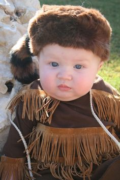 Davy Crockett baby costume