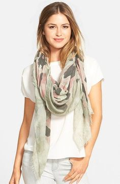 Roffe Accessories Camo Print Scarf / @nordstrom #nordstrom