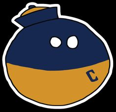 California-inspired /r/CFBBall Ball Logo designed by /u/A-Stu-Ute! Stickers available now through Stickermule. #california #cal #goldenbears #cfbball #collegefootball #rcfb #pac12