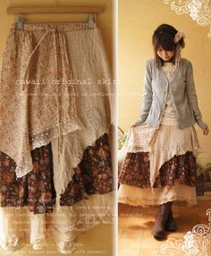 Vanillery Garden: Mori Girl Monday: My Favorite Mori Girl Shops: Onepi - I need this skirt with my Roper Rockstar boots...