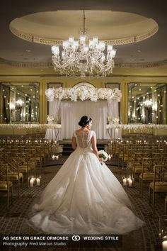The classic and elegant wedding of Michele & Max at The Pierre, A Taj Hotel, New York. Wedding Dress and Veil: Ines Di Santo from Bergdorf Goodman; Groom's cuff links: Tiffany & Co.; Photography: Fred Marcus Studio > Read their story by clicking the link below.