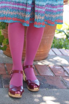 Pink Tights, Colored Tights, Opaque Tights, Black Tights, Improve Flexibility, Fashion Tights, Beautiful Outfits, Beautiful Clothes, Leggings