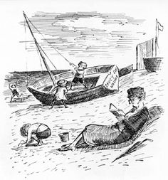 Introduction - Ardizzone Print - Short Biography of artist Edward Ardizzone Illustration Example, Magazine Illustration, Children's Book Illustration, Book Illustrations, Edward Ardizzone, Fairy Pictures, Life Aquatic, Children's Picture Books, Coastal Art