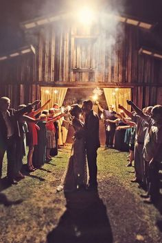 oneloomstudio: Dramatic evening barn weddings.