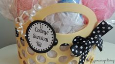 Thrifty Parsonage Living: DIY GRADUATION GIFT ~ COLLEGE SURVIVAL KIT