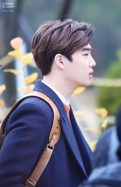 Suho - 141124 Filming at Kyungin Women's University Credit: Cotton Blossom.