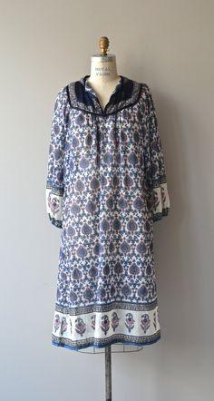 Athos dress vintage 1970s india cotton dress gauze by DearGolden