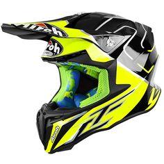 Airoh 2019 Twist LE Cairoli Yellow/Black Helmet at MXstore Dirt Bike Gear, Motocross Helmets, Black Helmet, Yellow Black, Bicycle Helmet, Geek, Amazon, Products, Bicycling