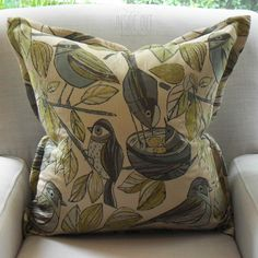 Special Import - Jaquard Bird - 60 x 60 - Inside Out Home Boutique - Available in store - Available for order online at www.insideouthb.co.za
