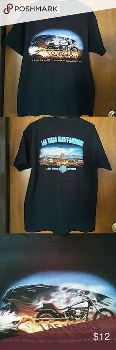 HARLEY-DAVIDSON Men's Large Harley-Davidson T-Shirt, Las Vegas, Nevada. Gently Worn very good condition, feel free to mak offer or bundle and save... 😎😎 Harley-Davidson Shirts Tees - Short Sleeve