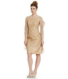 Alex Evenings Sleeveless Stretch Tulle Lace Party Dress #Dillards