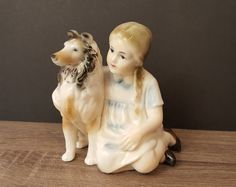 Vintage Collie Dog Collie Figurine Collie and by MatildaAugust