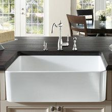 "View the Blanco 518541 Cerana 33"" Single Basin Farmhouse Style Fireclay Kitchen Sink at FaucetDirect.com."